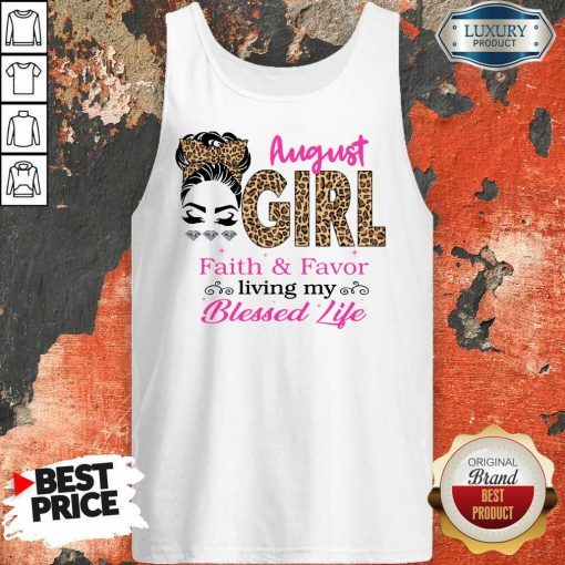 August Girl Faith And Favor Blessed Life Tank Top