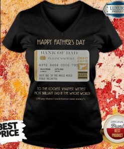 Bank Of Dad Happy Father's Day V-neck