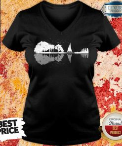 Nice Guitar Lake Sailing V-neck
