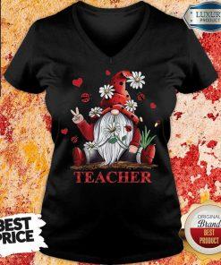 Teacher Gnome V-neck